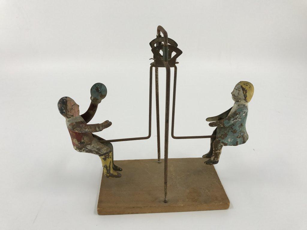 1890s - 1910 Gibbs Tin Litho Toy Rocker