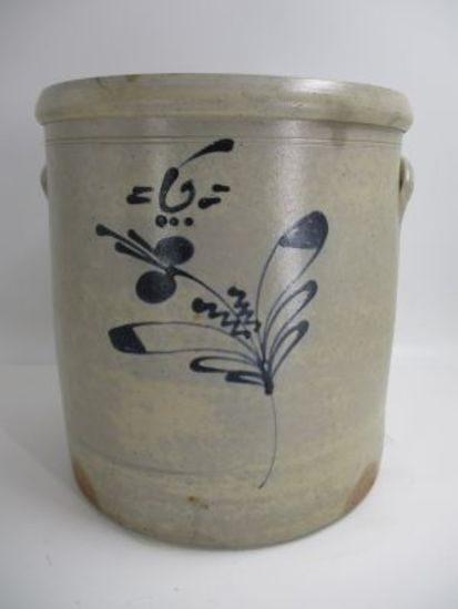 6 Gal. Decorated Salt Glaze Crock
