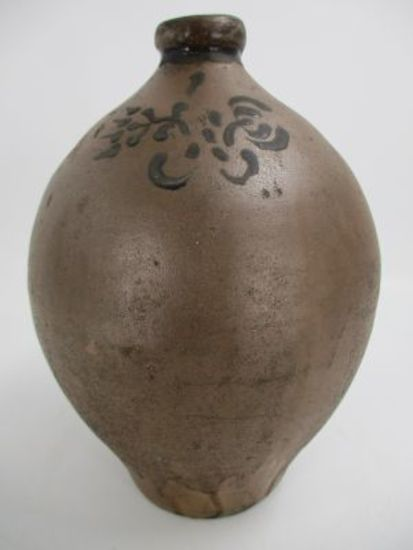 1 Gal. Decorated Ovoid Redware Jug