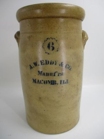 6 Gal. A.W. Eddy & Co. Manuf'rs Churn