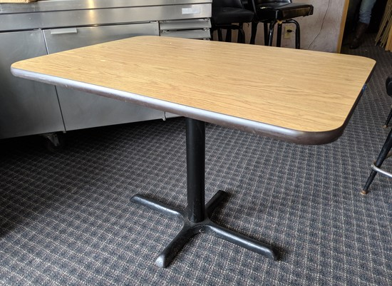 "30""x 42"" Single Leg Table"