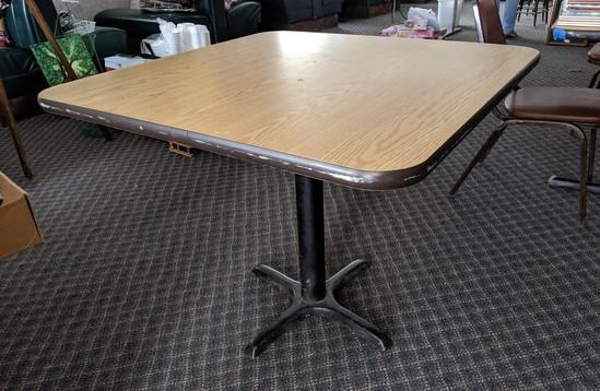 3'x 3' Single Leg table