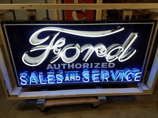 Ford Sales and Service Neon Sign