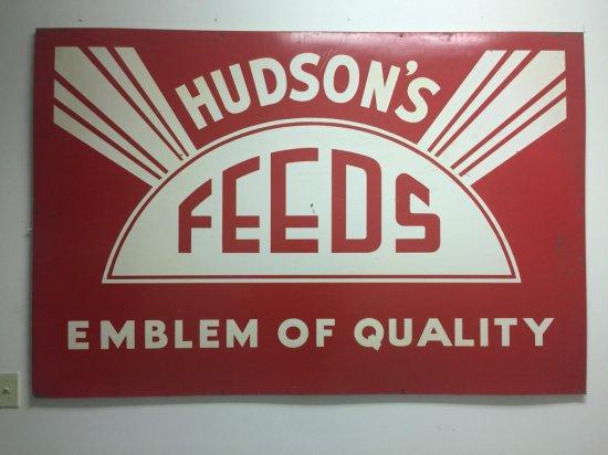 Hudson Feeds Tin Sign