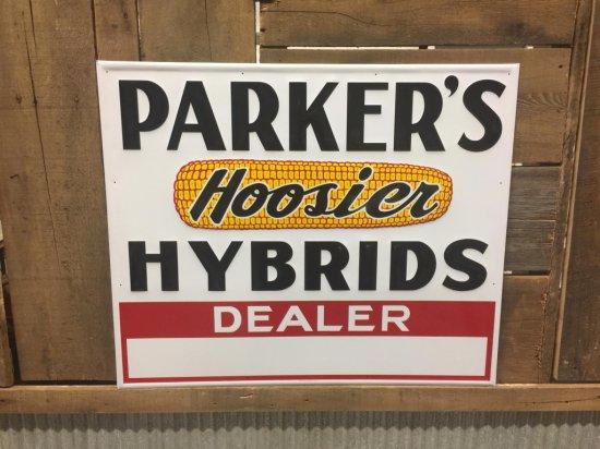 Parker's Hoosier Hybrids Dealer Sign