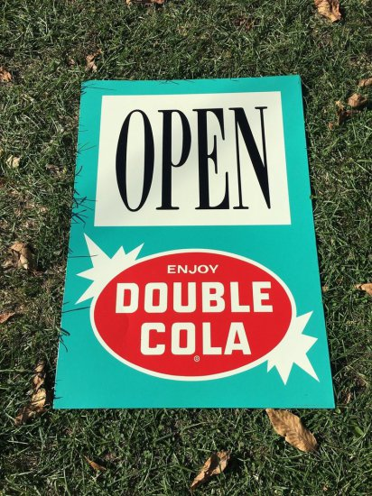 Double Cola Open Tin Sign