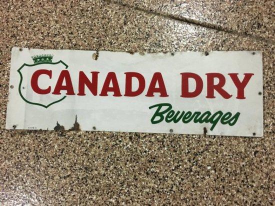 Canada Dry Ginger Ale Porcelain Sign