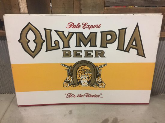 Olympia Beer Tin Sign