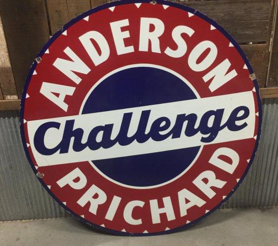 Porcelain Anderson Prichard Challenge Gas Station Sign