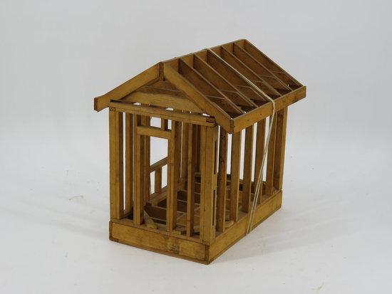 Wood shed frame builder's model c. 1930