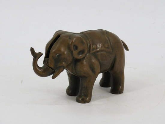 Brass elephant semi-mech. Bank