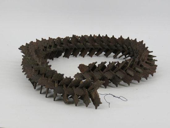 Folk carved vertebrae