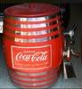 Original Coca-Cola wooden barrel soda dispenser