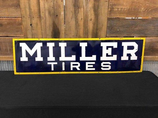 Porcelain Miller Tires Sign
