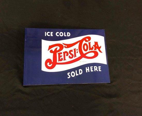 Pepsi Cola Double Dot Flange Sign