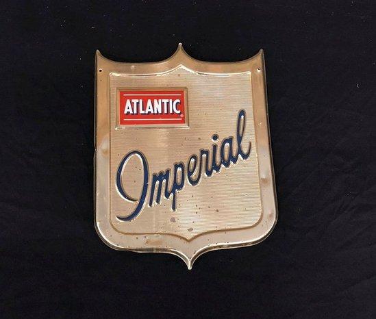 Atlantic Imperial Aluminum Pump Plate Sign