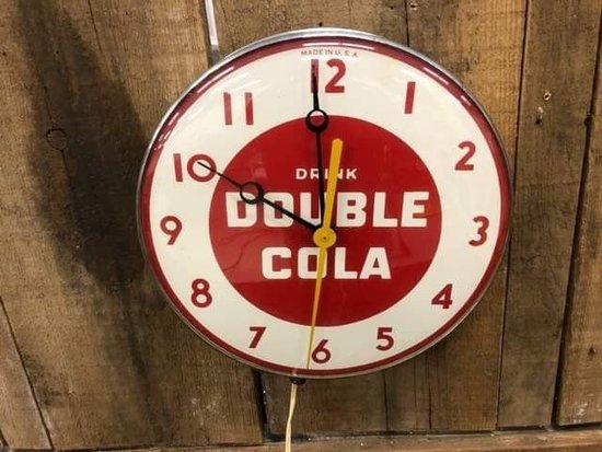 Drink Double Cola Advertising Clock