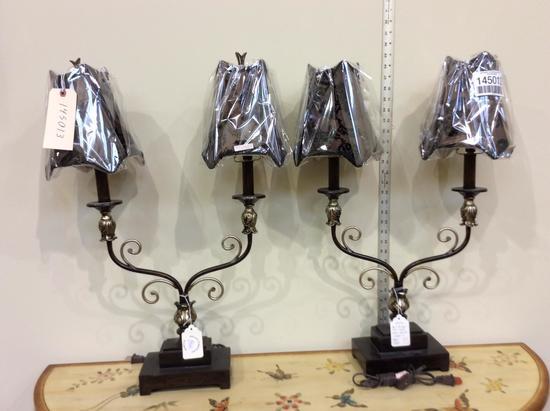 BRONZE TWIN LAMPS