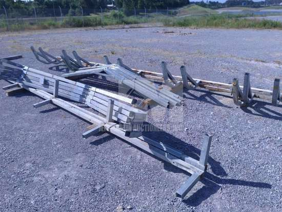 ASSORTED SIZES OF METAL TRUSSES, QTY (1 LOT), CONDITION UNKNOWN/AS
