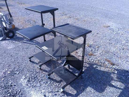 METAL WORK STATIONS, QTY (1 LOT), CONDITION UNKNOWN/AS IS ,