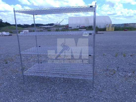 METAL RACK , QTY (1 EACH ), CONDITION UNKNOWN/AS IS