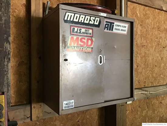 WALL MOUNTED TOOL CABINET W/CONTENTS