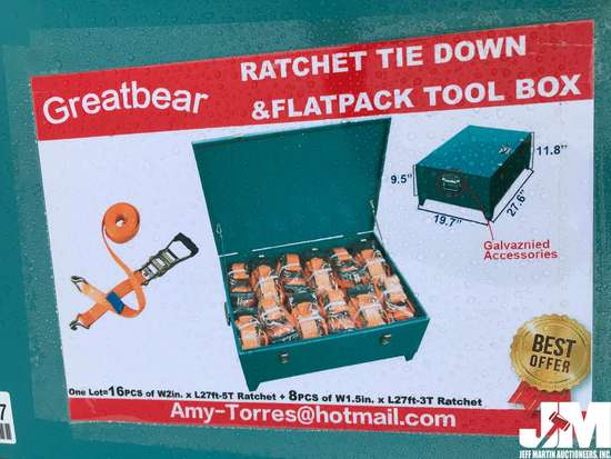 (UNUSED) GREATBEAR RATCHET TIE DOWNS & FLATPACK TOOL BOX