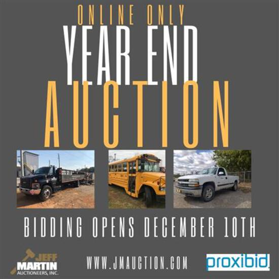 Online Only Year End Auction