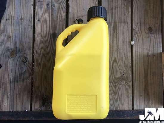 (UNUSED) 5 GAL PLASTIC FUEL CAN