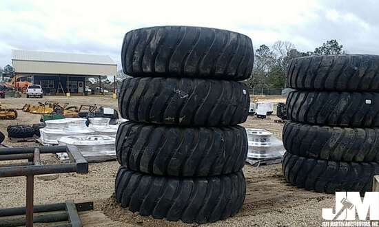 (4) GOODYEAR 21.00-25 32 PLY EQUIPMENT TIRES