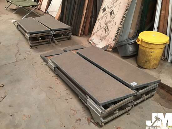 QTY OF (4) PORTABLE EASY STORE INDOOR BLEACHERS