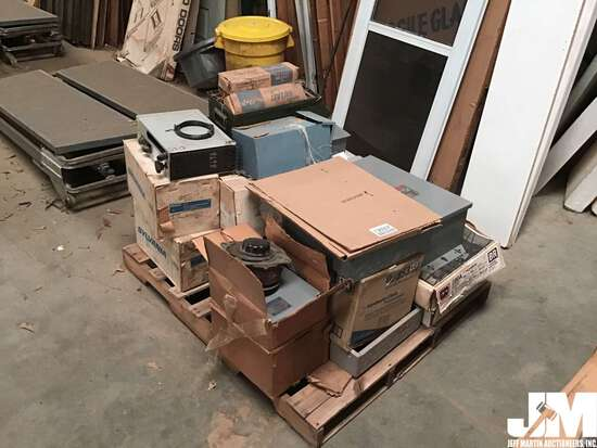 QTY OF ASSORTED BREAKER BOXES, SAFETY SWITCHES, & LAMP MATCHED