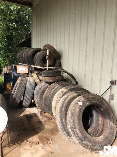 QTY OF TRUCK TIRES, PICK UP TIRES, MISC TIRES LOCATED