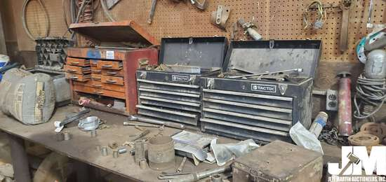 MISC SHOP TOOLS INCLUDING (4) TOOL BOXES W/ CONTENTS