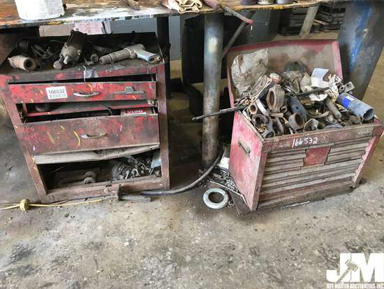QTY OF (2) TOOL BOXES W/ CONTENTS