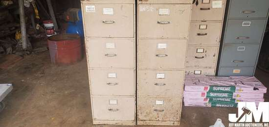 QTY OF (3) 5 DRAWER FILING CABINETS, QTY OF (9)