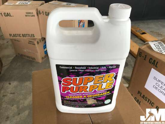 (UNUSED) QTY OF (6) 1 GAL SUPER PURPLE CLEANER &