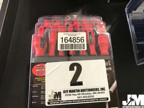 (UNUSED) 26 PC TORQ SCREWDRIVER SET W/RACK, MAGNETIC TIPS