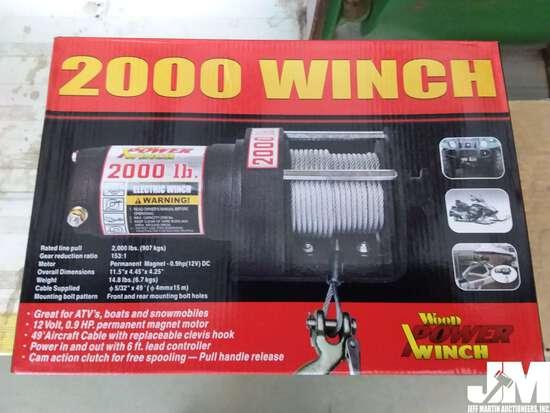 (UNUSED) WOOD 2000LB 12V WINCH