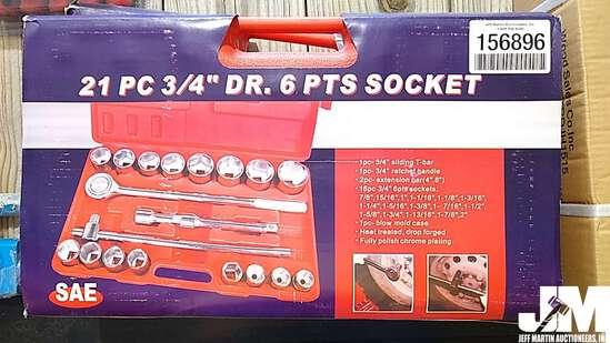 """21 PC 3/4"""" DR SOCKET SET"""