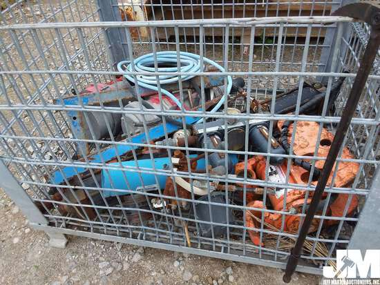 CRATE OF MISC ELECTRICAL PARTS, VALVES, ***ITEM DAMAGED IN 2019