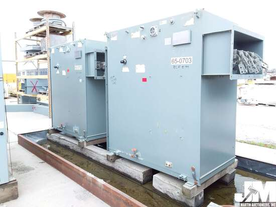 QTY OF (2) SQUARE D SUBSTATION TRANSFORMERS, 1000KVA CONTINUOUS, 3
