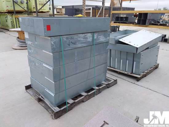 QTY OF (2) PALLETS, SQUARE D INDUSTRIAL ELECTRIC CANS, ***ITEM
