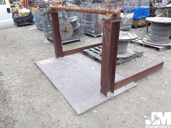 INDUSTRIAL SPOOL STAND, ***ITEM DAMAGED IN 2019 IOWA FLOOD, CONDITION