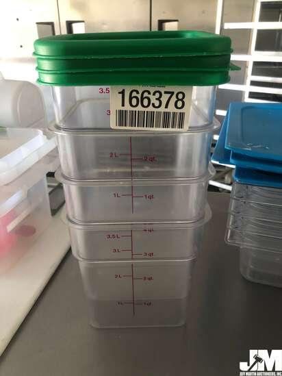 QTY OF (4) 4QT PLASTIC CONTAINERS, W/ (3) LIDS