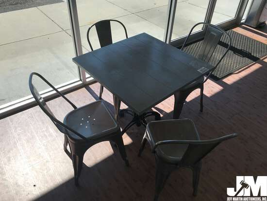 SQUARE BISTRO TABLE W/ (4) CHAIRS