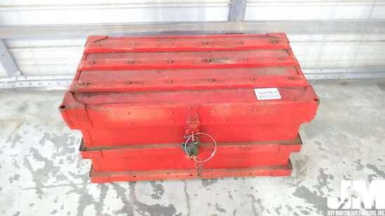 VINTAGE VANDERMAN RAILROAD STRONG BOX W/B & O RAILROAD BRASS