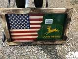 AMERICAN FLAG/ JOHN DEERE WOODEN SIGN