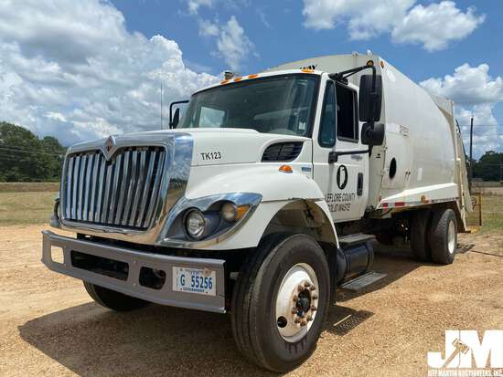 2011 INTERNATIONAL 7400 WORKSTAR VIN: 1HTWCAAN5BJ330752 S/A REAR LOAD RESIDENTIAL COLLECTION TRUCK