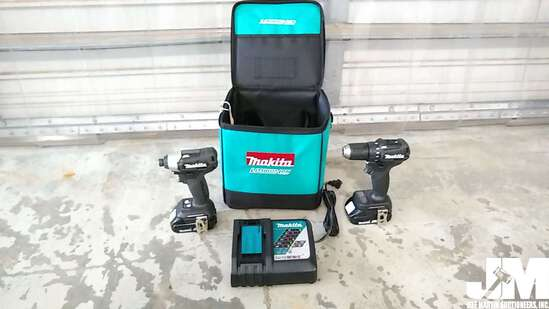 MAKITA BATTERY OPERATED IMPACT/DRILL W/ CHARGER AND CARRING CASE